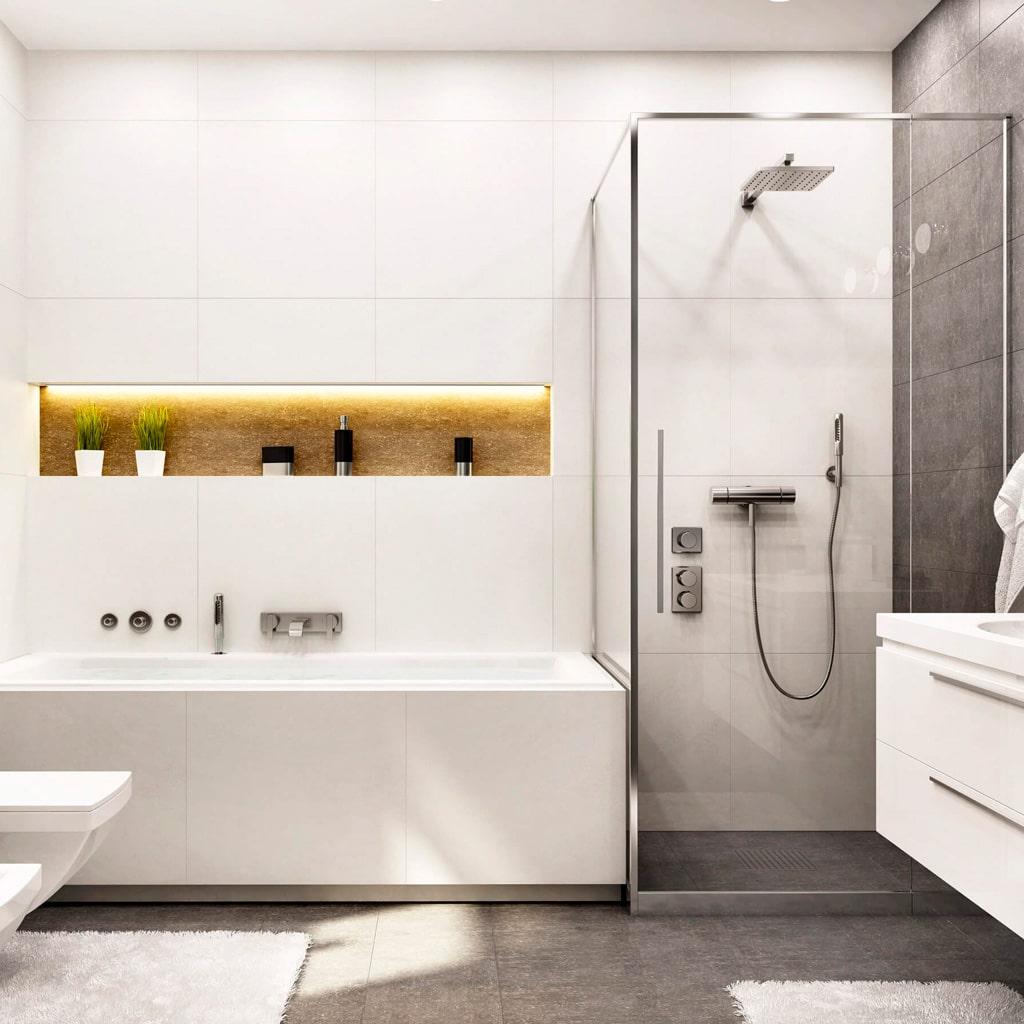 Ремонтно-отделочные работы в ванной комнате